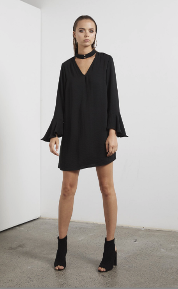 The Shilla the Label: Eclipse Bell Sleeve Dress
