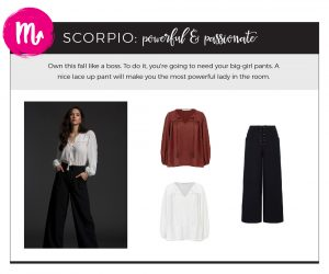 Fall 2018 Fashion on Your Horoscope - Scorpio