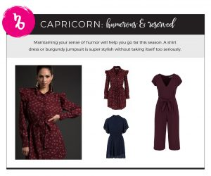 Fall 2018 Fashion on Your Horoscope - Capricorn