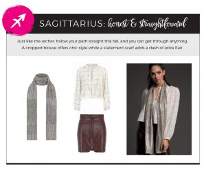 Fall 2018 Styles for Your Star Sign - Sagittarius